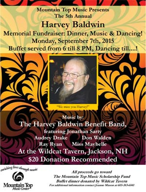Harvey Baldwin Mountain Top Music Scholarship Fund Benefit