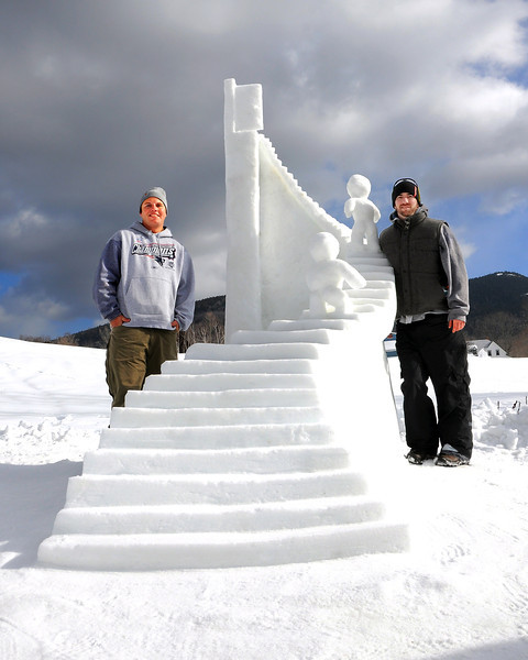 snow-sculpting
