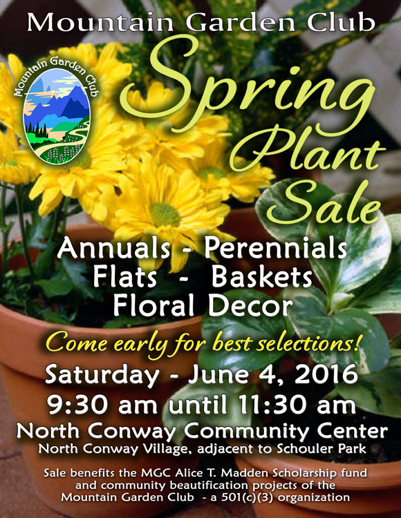 Mountain Garden Club Annual Spring Plant Sale - June 4, 2016