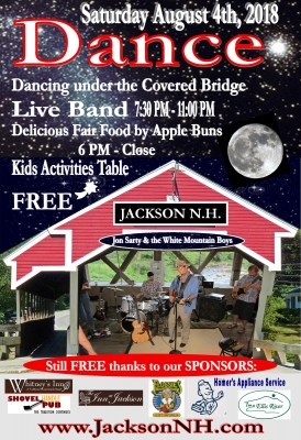 Covered Bridge Dance in Jackson, NH - August 4th